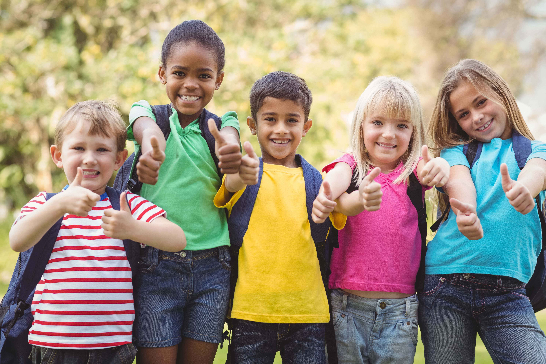 Children Outside At School